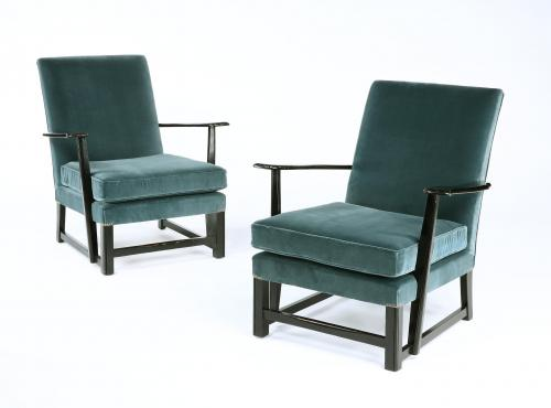 A pair of Mid 20th Century armchairs