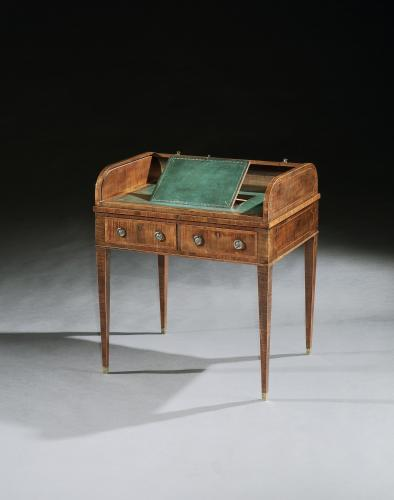 A George III period tambour writing desk