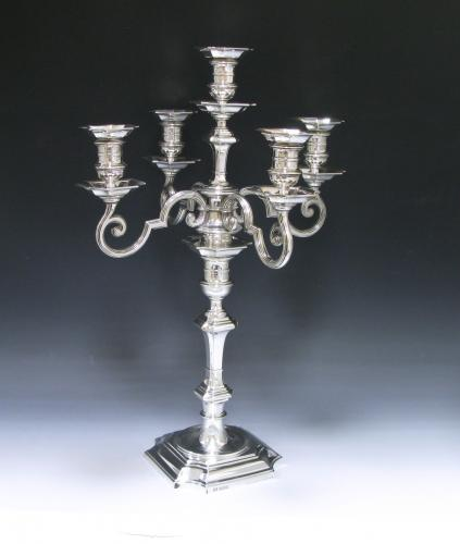 An Antique Silver Candelabrum
