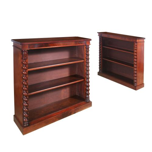 A pair of Regency period Irish bookcases