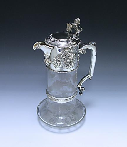 Antique Victorian Silver Mounted Claret Jug