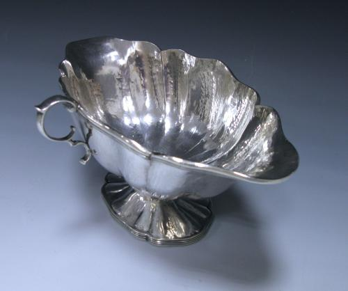 Spanish Sterling Silver Double-Lipped Sauce Boat