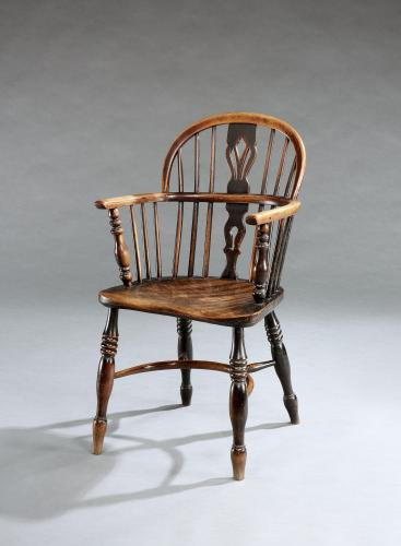 A small scale mid 19th century Windsor armchair