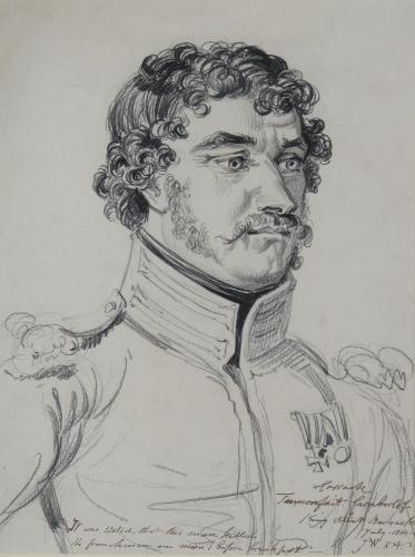 Portrait of Tamorfait Carnborloff, a Cossack - James Ward, R.A. (1769-1859)