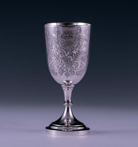 Victorian Antique Sterling Silver Goblet