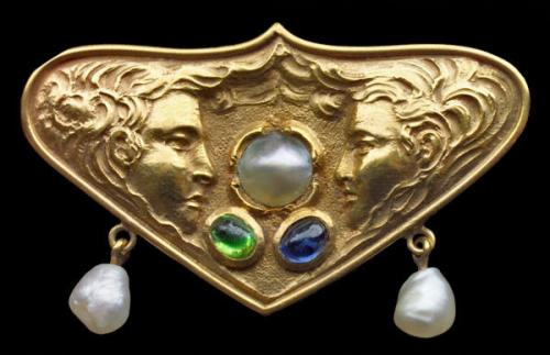 Secessionist Brooch Attributed to FRITZ WOLBER (1867-1952)