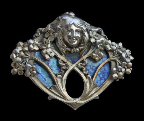 VIENNA SECESSION (1897-1939) 'Flora' Symbolist Brooch