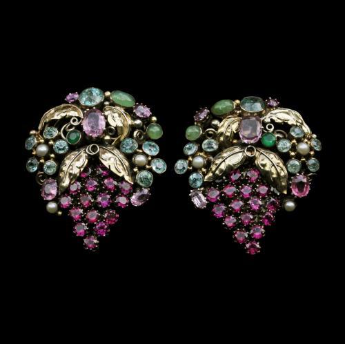 DORRIE NOSSITER (1893-1977) Arts & Crafts Dress Clips