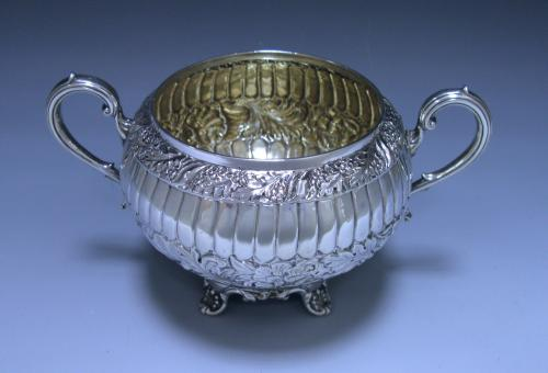Victorian Antique Sterling Silver Two-Handled Bowl