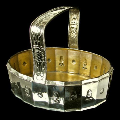 VIENNA SECESSION Silver Oval Basket