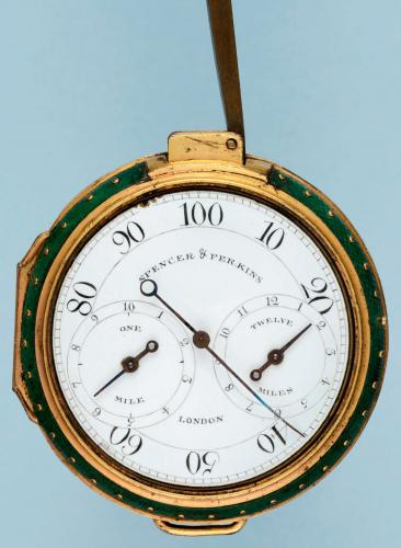 Gilt and Shagreen English Pedometer