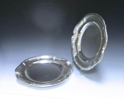 Pair of Antique French Silver Second Course Dishes