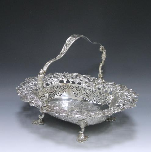 A George II Antique Silver Cake Basket