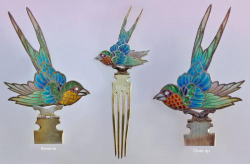 BRITISH ARTS & CRAFTS (1880-1930) Swallow Hair Comb