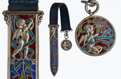 GEORGES LE TURCQ (born 1859) Neo-Renaissance Cherub Bookmark