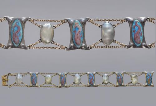 Dolphin Bracelet Attributed to GUILD OF HANDICRAFT LTD. (worked 1888-1908)