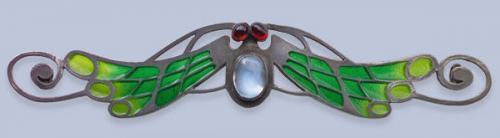 LEVINGER & BISSINGER (worked 1903-1909) Jugendstil Sylised Insect Brooch
