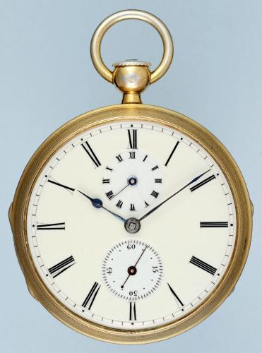 Silver Gilt Swiss Verge Pocket Watch With Alarm