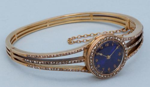 Diamond Set Gold Bracelet Watch