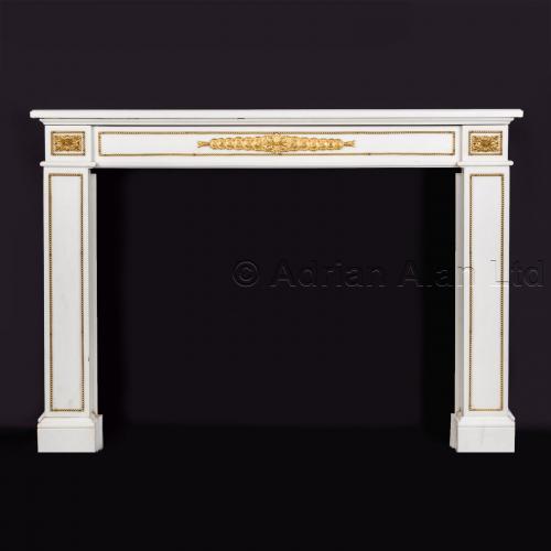 Napoleon III White Marble Fireplace ©AdrianAlanLtd