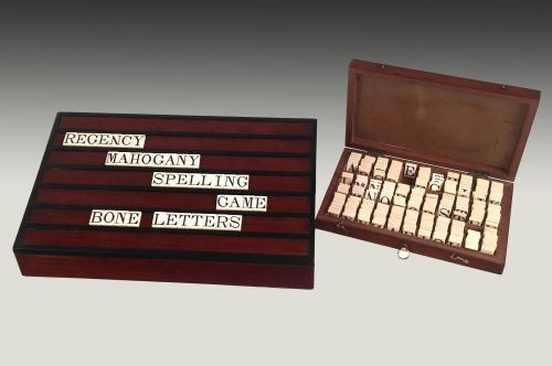Regency mahogany boxed alphabet tiles