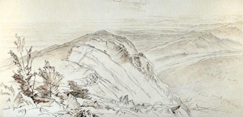 The plains of Lombardy from Monte Generoso, Edward Lear, R.A. (British, 1812-1888)