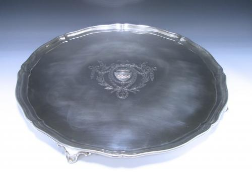 A Large George III Sterling Silver Salver