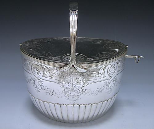George III Antique Silver Double Tea Caddy