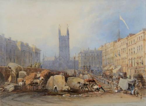 St. Saviour's Church, Southwark, London, George Sidney Shepherd (British, 1784-1862)