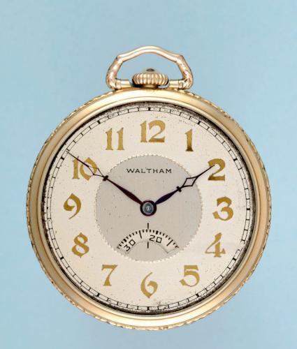 Gilt Waltham Secometer Pocket Watch
