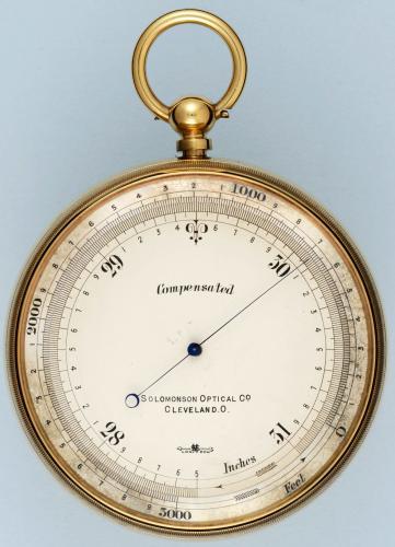 Large Gilt Aneroid Pocket Barometer
