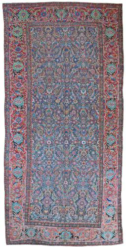Antique Kurdish kelleh carpet