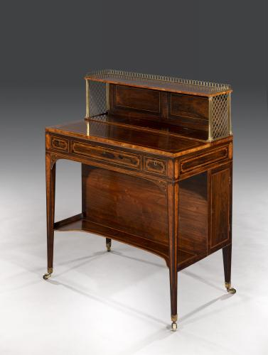 George III Sheraton Period 18th Century Rosewood & Satinwood Inlaid Artist Cabinet