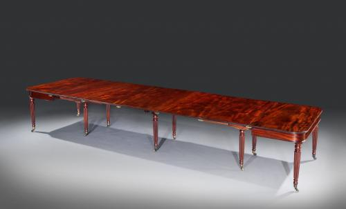 Late George III Regency Period Mahogany 'Imperial' Extending Dining Table attributed to Gillows of Lancaster & London