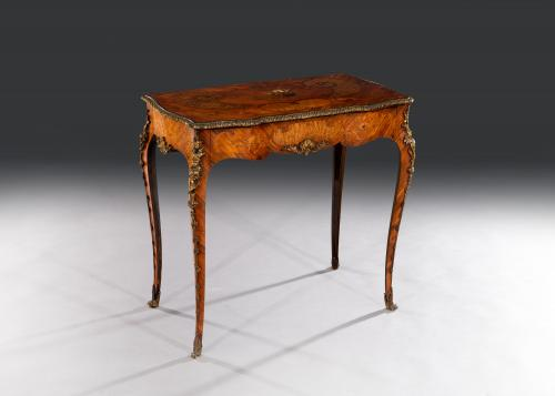 Stunning 19th Century Tulipwood & Bronze Ormolu Mounted Side Table by Edward Homes Baldock