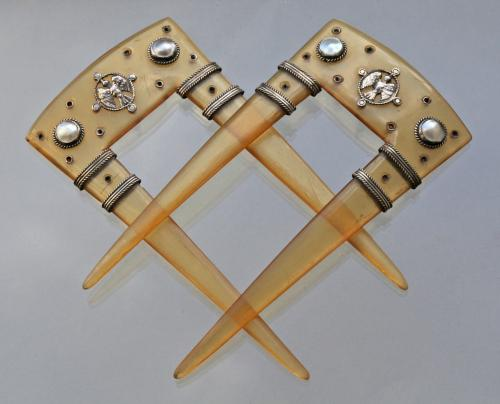 Medieval Inspired Arts & Crafts Combs Attributed to JOHN PAUL COOPER (1869-1933)