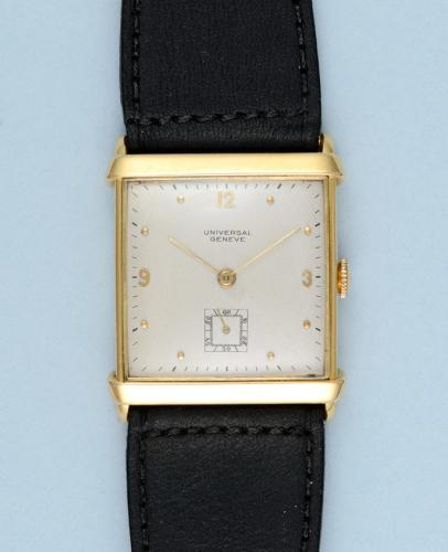Square Gold Wristwatch