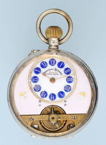 Silver Eight Day Swiss Lever Pocket Watch