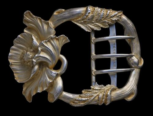 HENRI TETERGER (born 1862) Art Nouveau Poppy Buckle