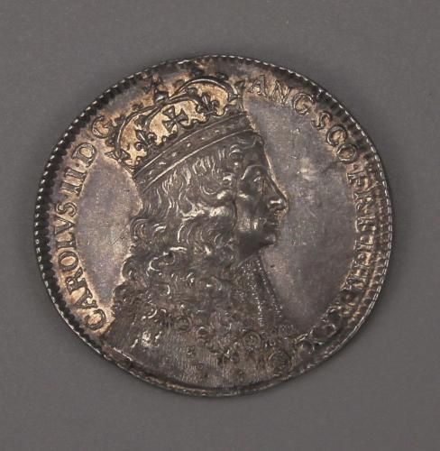CHARLES II Coronation Silver Medal. London 1661 by Thomas Simon.
