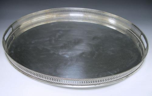 A George V Two Handled Gallery Tray