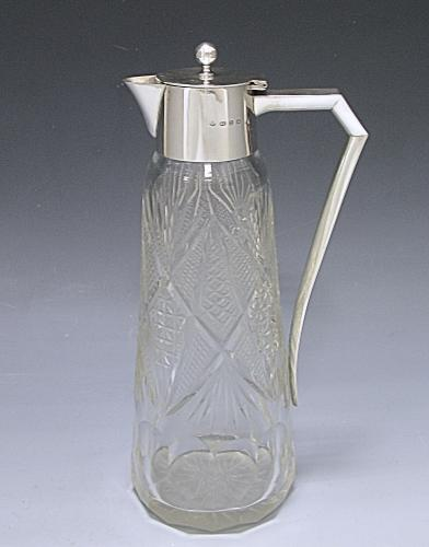 A Victorian Silver and Glass Claret Jug