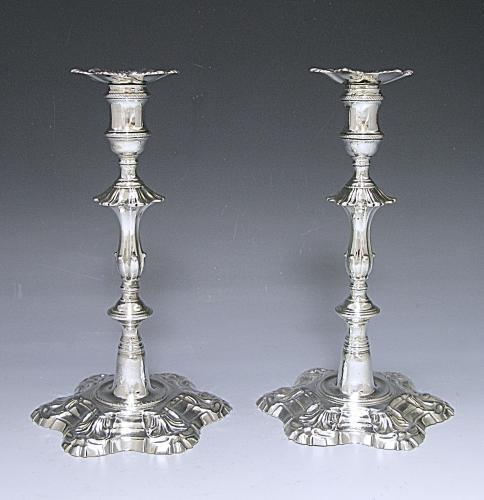 Pair of Georgian Cast Candlesticks