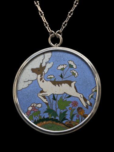 PHOEBE STABLER (1879-1955) HAROLD STABLER (1872-1945) Leaping Deer Pendant