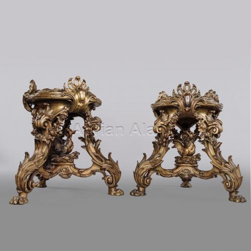 Pair of Dragon Stands ©AdrianAlanLtd