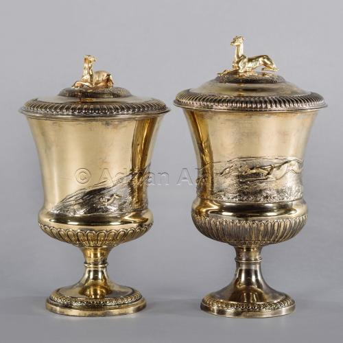 Pair of Silver-Gilt Cup and Covers ©AdrianAlanLtd