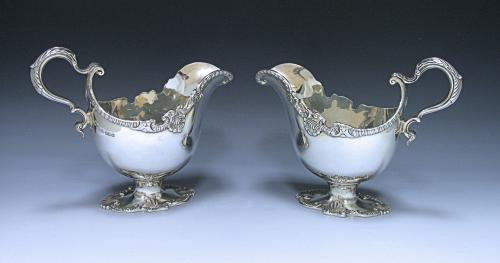Pair of Edwardian Sterling Silver Sauce Boats