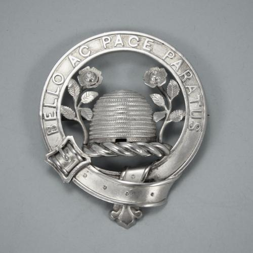 Antique Silver Scottish Clan Badge - BRAIKENRIDGE