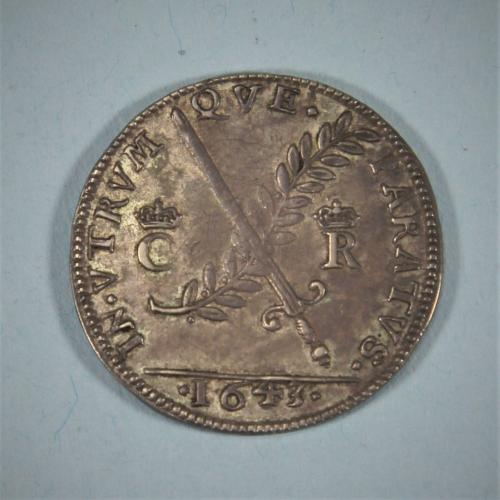 CHARLES I - Silver Medal Peace or War by T Rawlins. London 1643.