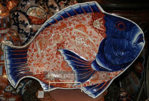 A large imari fish plate